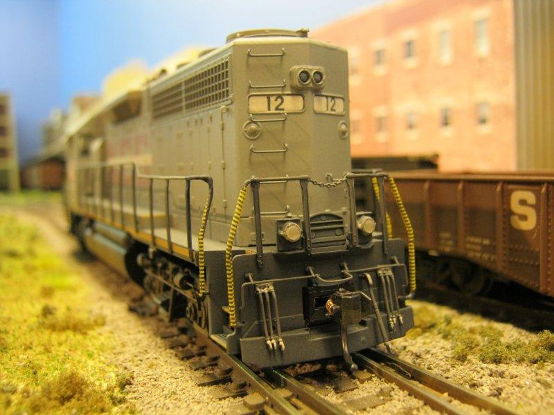 Rear: Buckingame Branch #12 Ex-KCS GP40-3