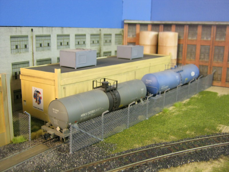 Tank cars spotted.