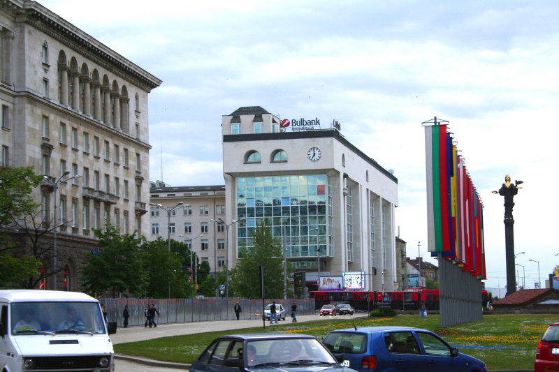 View of the prominent Blvd. Knjagginia Marija Luiza. This was formerly Sofias Red Square.
