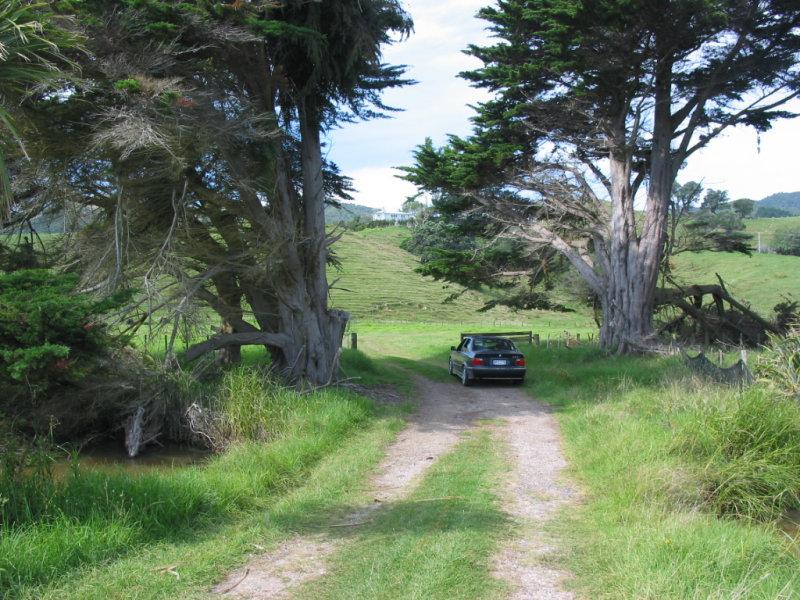 Farmhouse drive