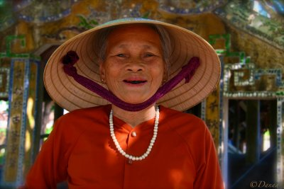 Thanh Toan village : Lovely Grandmother.