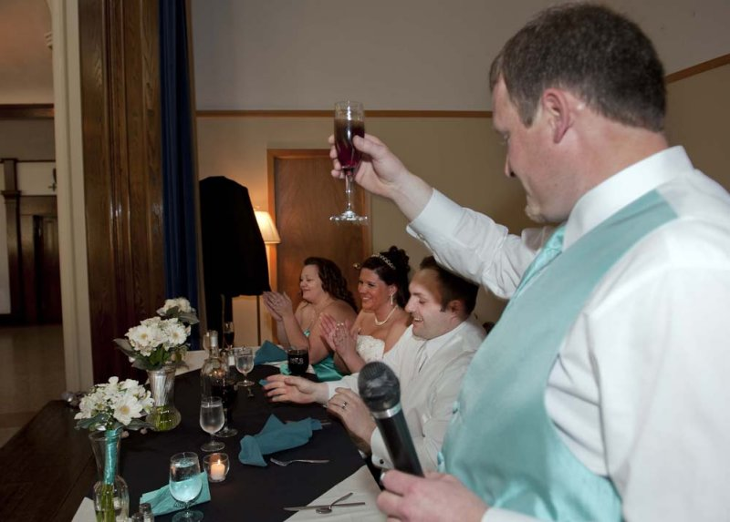 Toast by best man brother