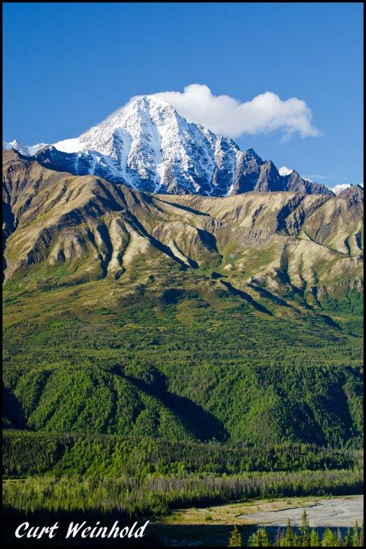 King Peak towers above the Matanuska River