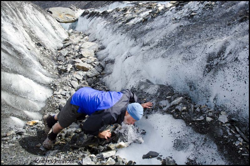 Drinking  water from Worthington Glacier