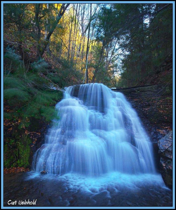 Middle Falls of Little Four Mile Run-autumn