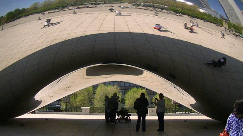 The Bean in Chicagos Millennium Park