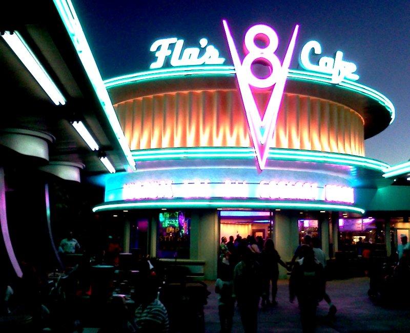 Radiator Springs world at Disneyland