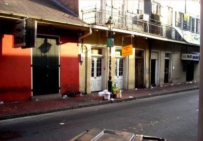 Bourbon Street the morning after
