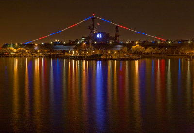 USS Midway, by Night