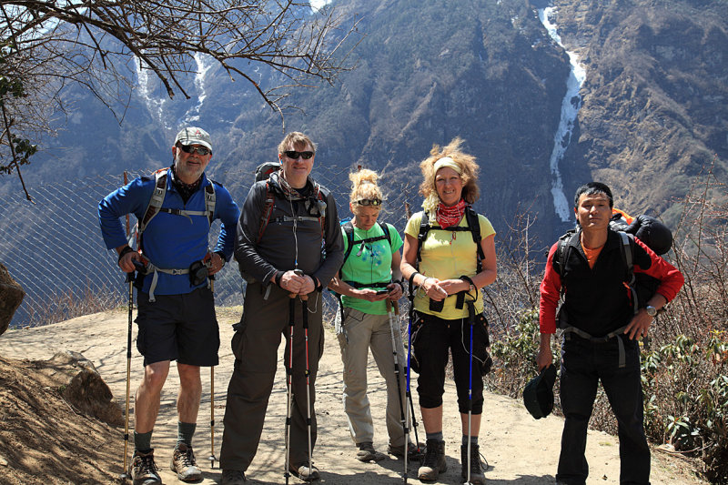 On the trail near Namche