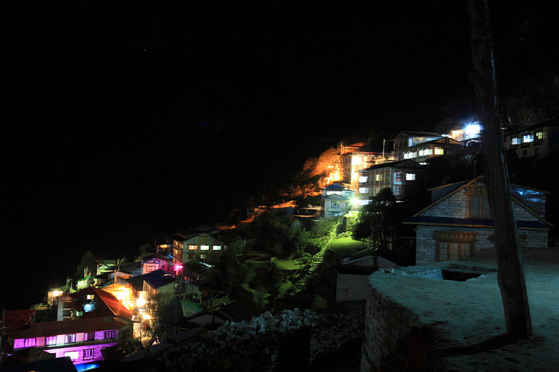 Namche at night