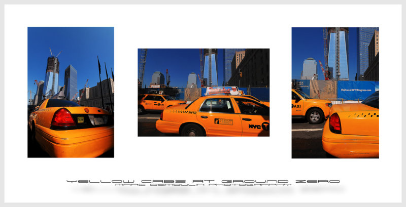 Yellow cabs at ground zero