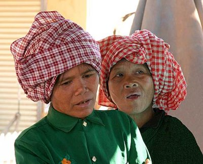 Kreung ladies in Banlung market, Cambodia.