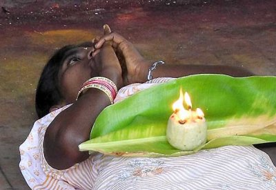 Fire ceremony for devotees at Irukkankudi temple near Sattur, Tamil Nadu. http://www.blurb.com/books/3782738
