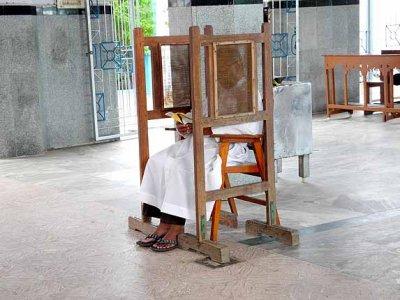 Confessional in Lady of Snows church in Tuticorin.
