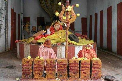Saptamatrikas and reclining Amman in a temple near Chennai. http://www.blurb.com/books/3782738