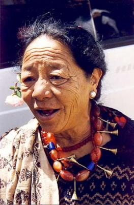 Naga lady with typical necklace