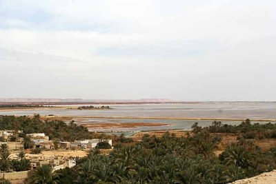 A huge lake near Siwa