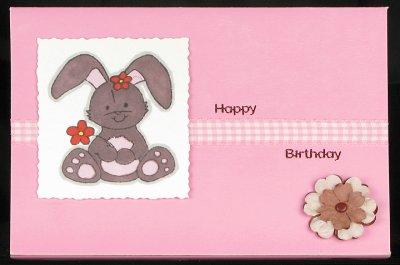 Cute birthday bunny