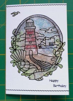 Glittered lighthouse