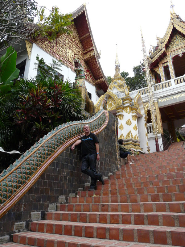 Tintin on the stairs