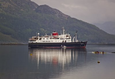 The Hebridean Princess In Scotland. April 2011