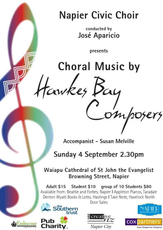 Choral Music by Hawkes Bay Composers
