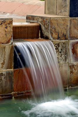 Vistor Center Water Fall