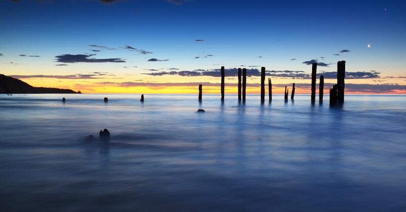 Port Willunga Jetty Ruin Sunset