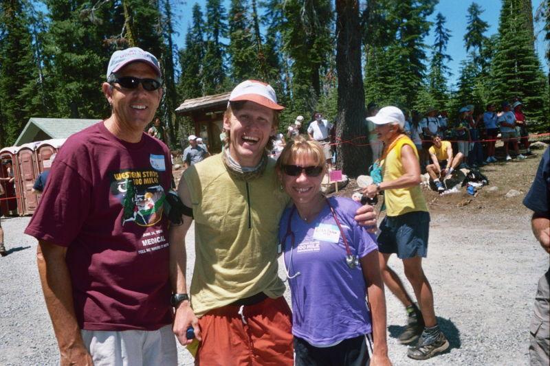 Mike Ashcraft (medical aid captain), Jay Batchen (25:22) & me at Robinson Flat