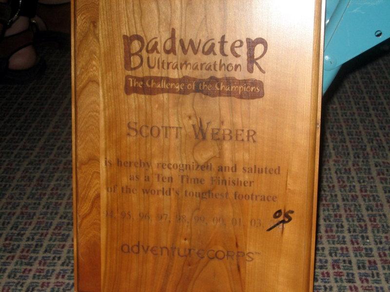 Scott Webers 10-year award