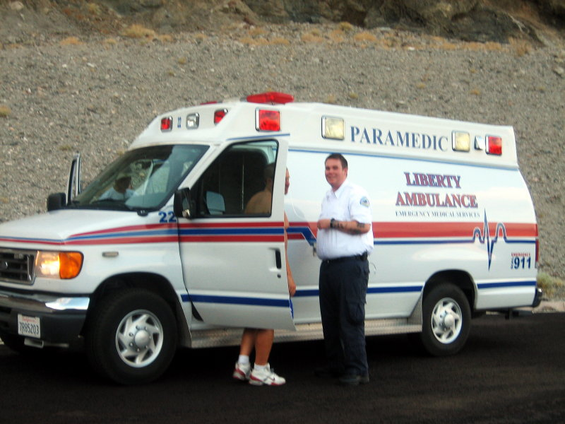 Support from Liberty Ambulance just in case