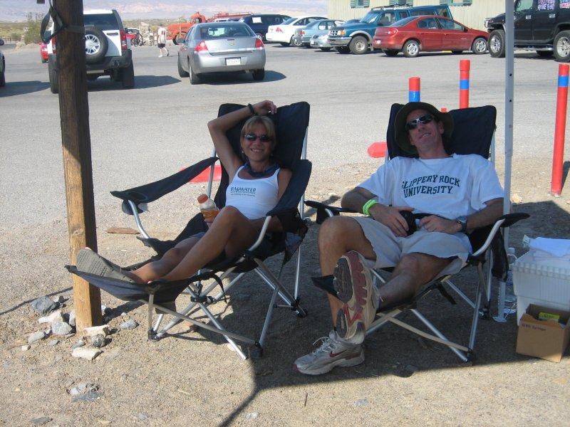 Jeff & I do a good job pretending to relax