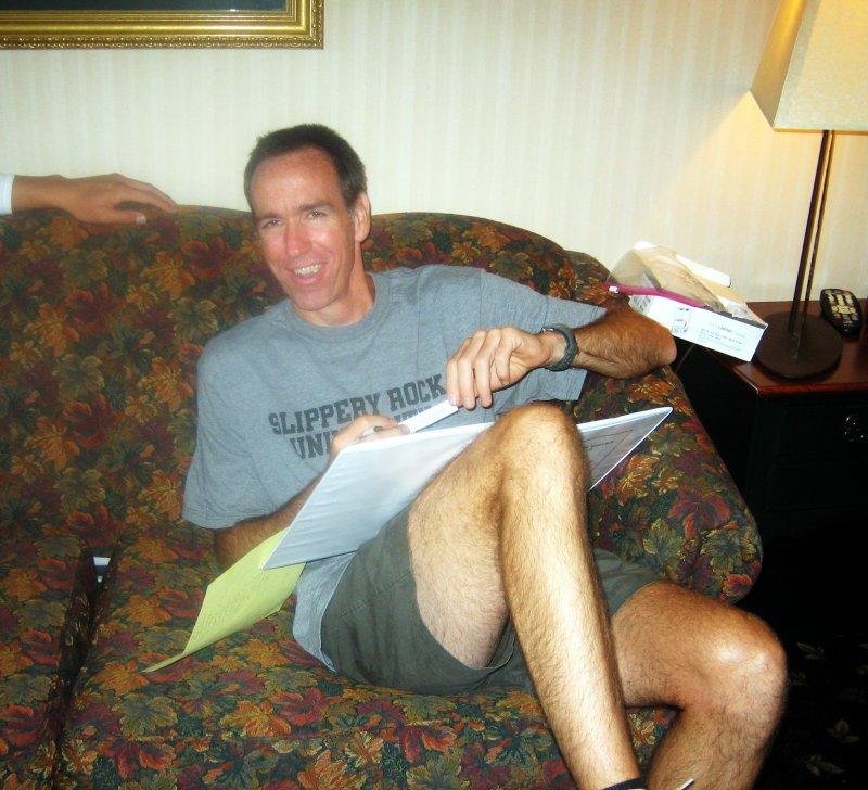 Dr. Jeff Lynn is from Slippery Rock University in PA, hence the T-shirt