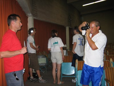 Runners getting mug shots taken
