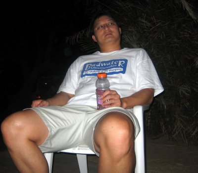 chilling on the porch after the rain & sand storm