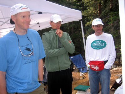 Don Lundell, Andy & Jeff who is catching a quick nap