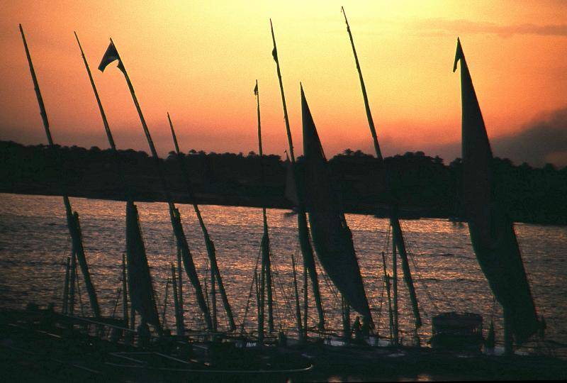 Faloukas and Nile sunset 2