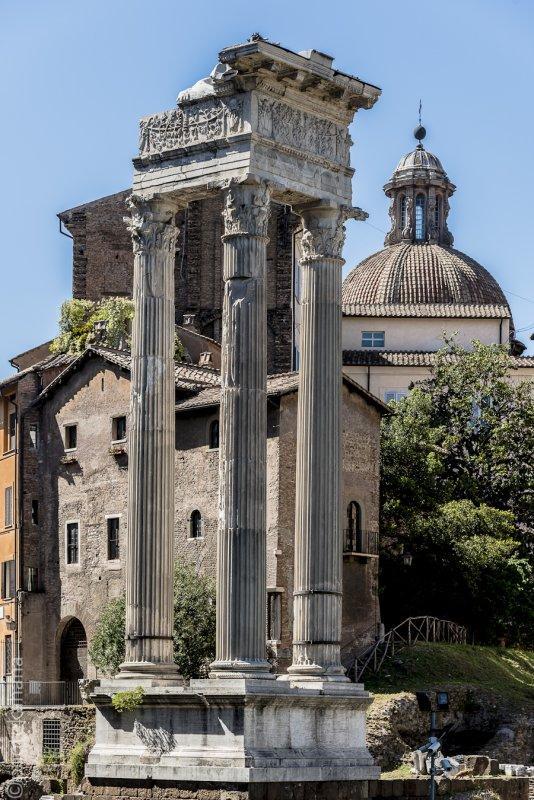 Ruins and Chiesa