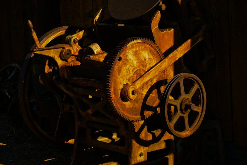 Golden machinery, Goldfield, Arizona, 2011