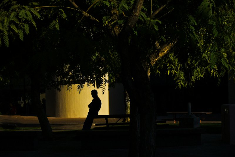 Last light, Scottsdale Civic Center, Scottsdale, Arizona, 2011