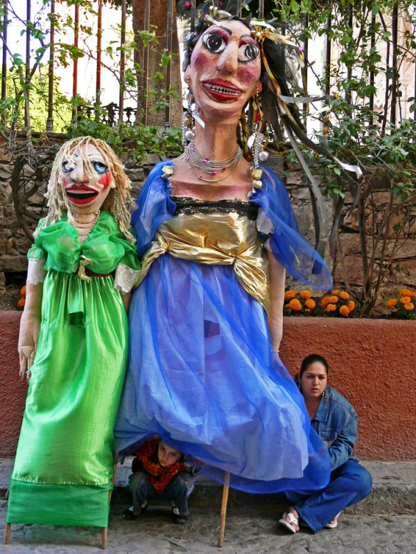 Street Performer and Friend, San Miguel de Allende, Mexico, 2005