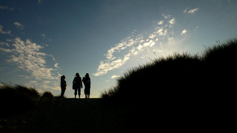Evening chat, Oregon Dunes National Recreation Area, Florence, Oregon, 2006
