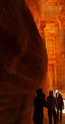 Entering Petra, Jordan, 2011