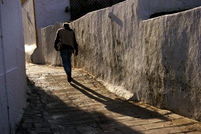 Village street, Lindos, Rhodes, Greece, 2011