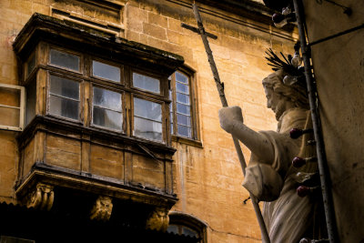 Street corner, Valletta, Malta, 2011
