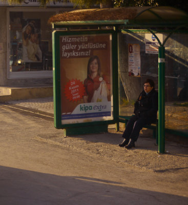 Bus stop, Kusadasi, Turkey, 2011
