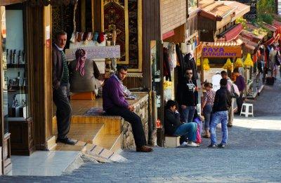 Shopping street, Side, Turkey, 2011