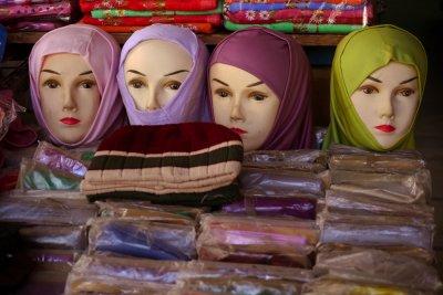 Headscarves, Aqaba, Jordan, 2011