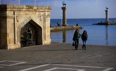 By Mandraki Harbor, Rhodes, Greece, 2011